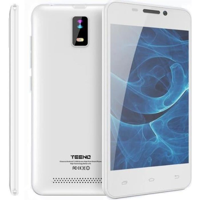 SMARTPHONE Teeno Smartphone HD 4G débloqué Blanc (Android 7.0