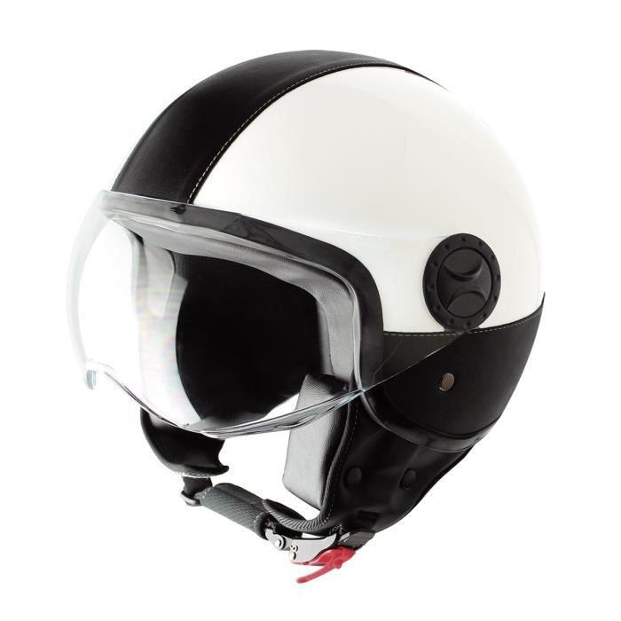 CASQUE MOTO SCOOTER TYTAN ROAD Casque jet leather noir