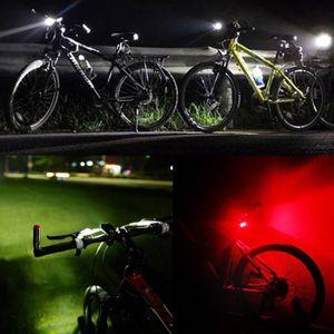2 DEL Silicone Vélo De Montagne Sacoche de vélo avant arrière SET push Cycle lumière 3 modes