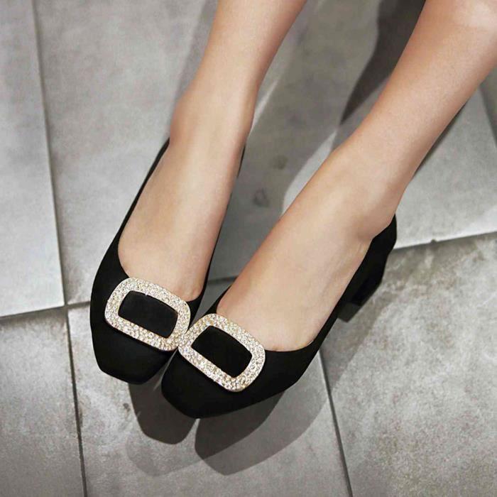 Chaussure Femmes Solide Décoration élégante Casual zB5Lu