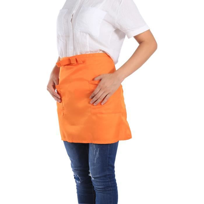 le tablier en buste pour pour cuisiner(orange)