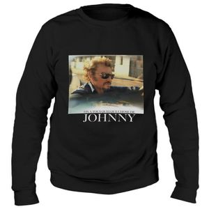 SWEATSHIRT Sweat Photo Johnny Hallyday - Homme - Noir