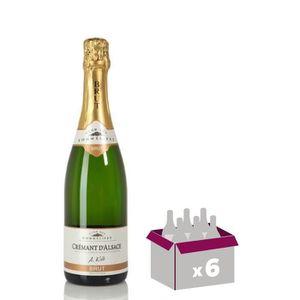 VIN BLANC Carton de 6 KOLB Crémant d'Alsace - Blanc - 75 cl