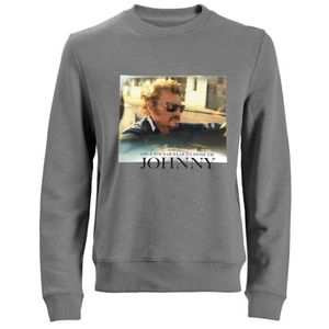SWEATSHIRT Sweat Photo Johnny Hallyday - Homme - Gris