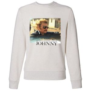 SWEATSHIRT Sweat Photo Johnny Hallyday - Homme - Blanc