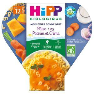 PURÉES DE LÉGUMES HIPP BIOLOGIQUE Les pré maternelles pâte 123 potir
