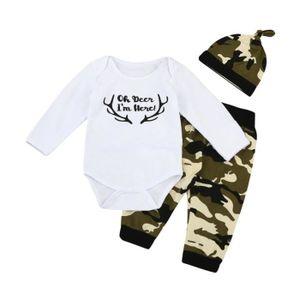 357cf202ecb9f Ensemble de vêtements 3pcs Tout-petit bébé bébé fille Vêtements Letter S ...