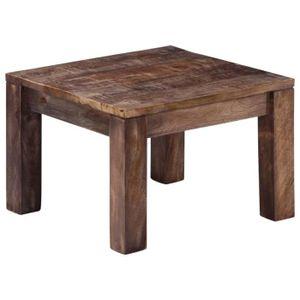TABLE BASSE Table basse 50 x 50 x 35 cm Bois de manguier massi