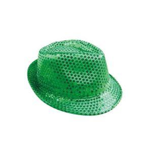 Chapeau Borsalino à Sequins Adulte - Achat   Vente chapeau ... ee6b689984e