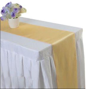 CHEMIN DE TABLE 1Pcs Chemin de Table Satiné Décoration de Table po