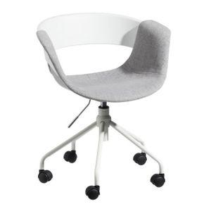 CHAISE DE BUREAU Chaise de bureau Tissu Gris - BOOGIE - L 46 x l 47