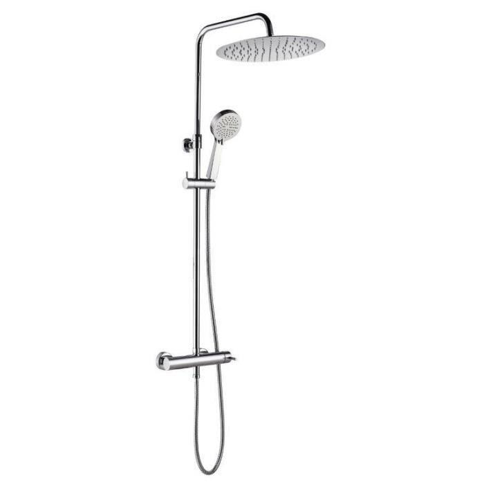 ESSEBAGNO Colonne de douche avec robinet mitigeur mécanique Esserondo 300 - Chromé