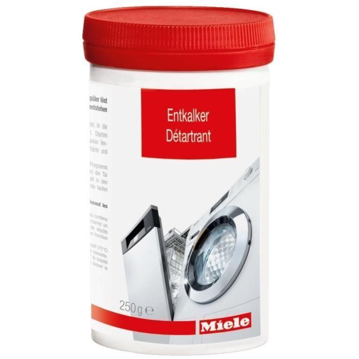MIELE 10130980 - Détartrant pour lave linge et lave vaisselle 250 g-Elimine dépots de calcaire-Protège résistances, tambour,cuve