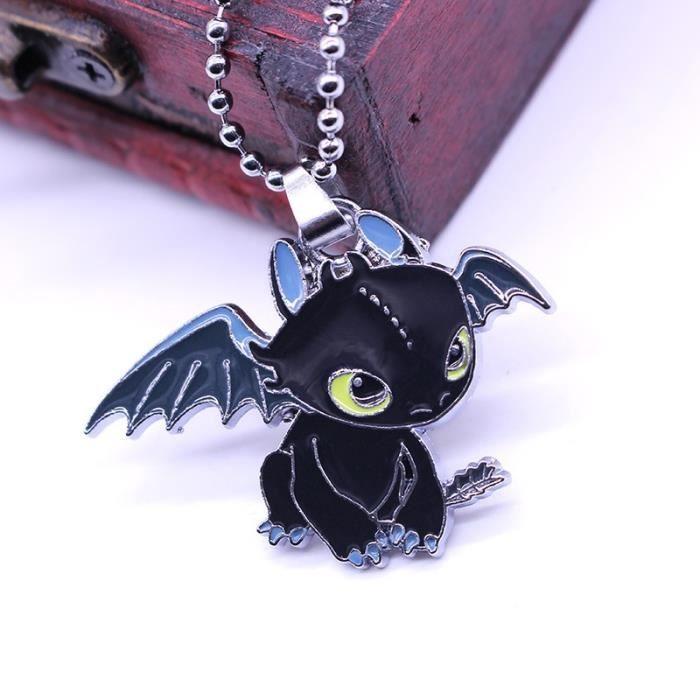 Cl1266 Animal Femme Pendentif Apprivoisé Dragon Enfant Sans Femmes 2 Mal Mignon Maître Nuit Collier Design SpVqUMz