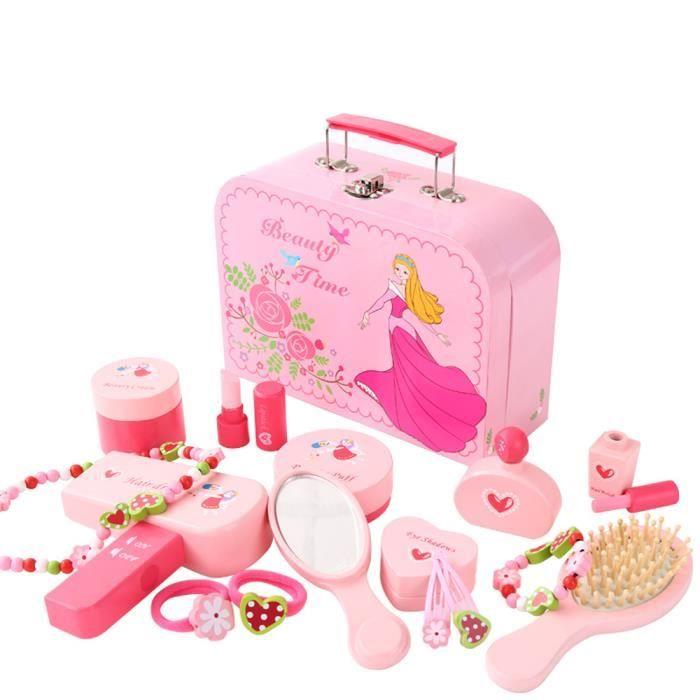 fille bois cosm tique sac ensemble de jouets bijoux achat vente coiffeur esth tique. Black Bedroom Furniture Sets. Home Design Ideas