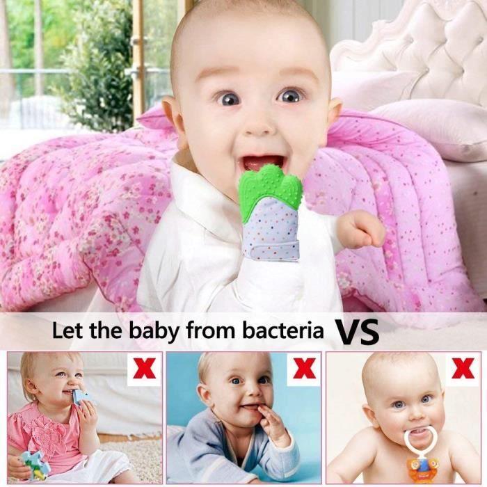 29c599098a765 1 pcs Moufles Gant de dentition bebe,Baby Mitten apaisante Pain ...