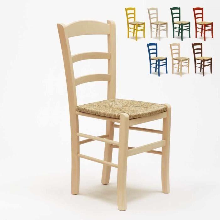 Neutre En Et Paille Assise Paesana bois Pour Couleur Restaurant À Chaise Salle Bar Bois Manger WbE9eD2HIY