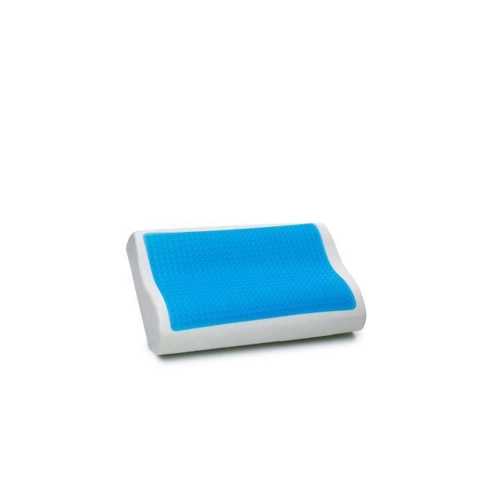 Oreiller en mousse à mémoire de forme avec gel - 50x30 cm - Moco