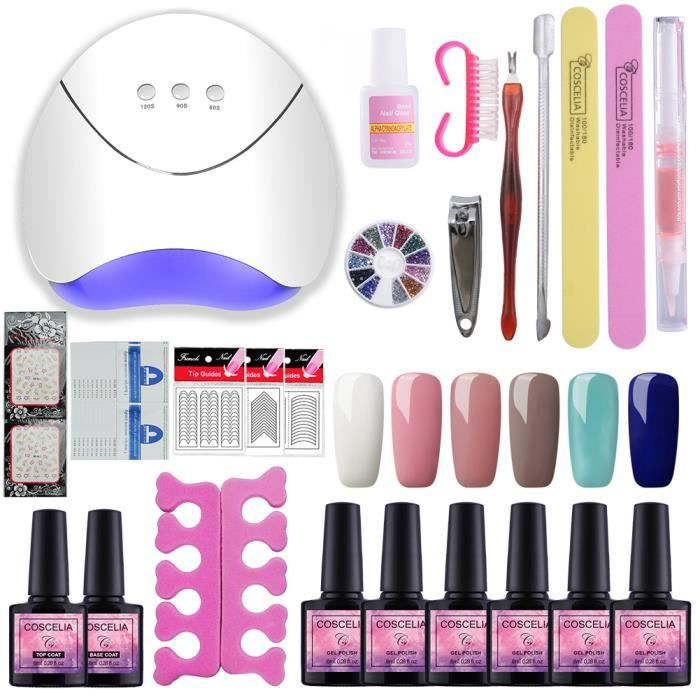 Coat Semi Uvled Vernis 36w Pc Ongles6 Top Usb Lampe A Kit Stickers Gel Coscelia Permanent Outils Sèche Ongle Manucure Nail OPnN80XwZk