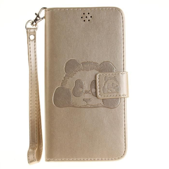 Folio Housse Xiaomi Redmi Note 3 55 Avec Dragonne PU Cuir Pochette De Protection Antichoc Or