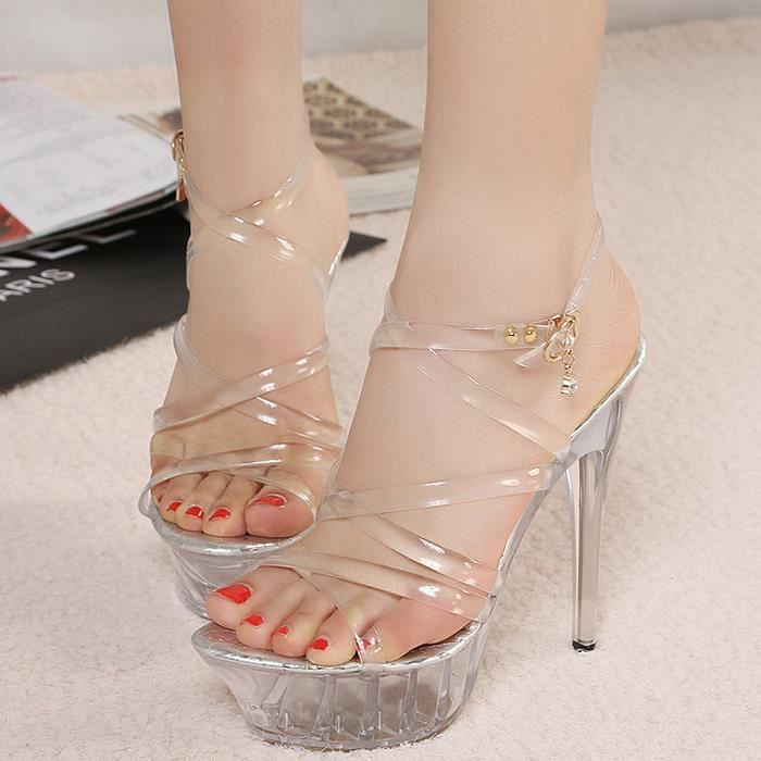 14 cm de haut avec Crystal sandales.