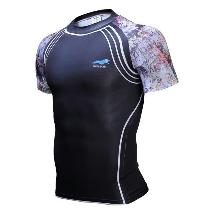 2b013a680ad5e 3-T-1707060066-4XL 2016 hommes marque crime t comprimé - shirts avec fitness  corsage à manches courtes pour ba poids cycliste