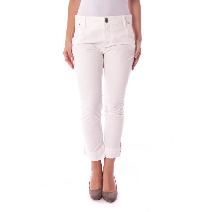 44 de Blanc Achat blanc Femme Pantalon Blanc COLCCI pêcheur 1XFqAx6