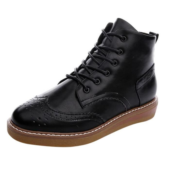 HEE GRAND Boots Femme Oxford Vintage A Lacet