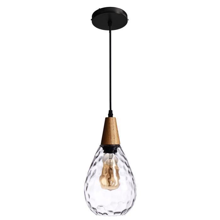 Led Simple Lampe Moderne Lustre Bar Entrepôt Luminaire Neufu Suspension Transparent Appliquer Restaurant Café Au Gouttelettes D'eau c3ASRLqj54