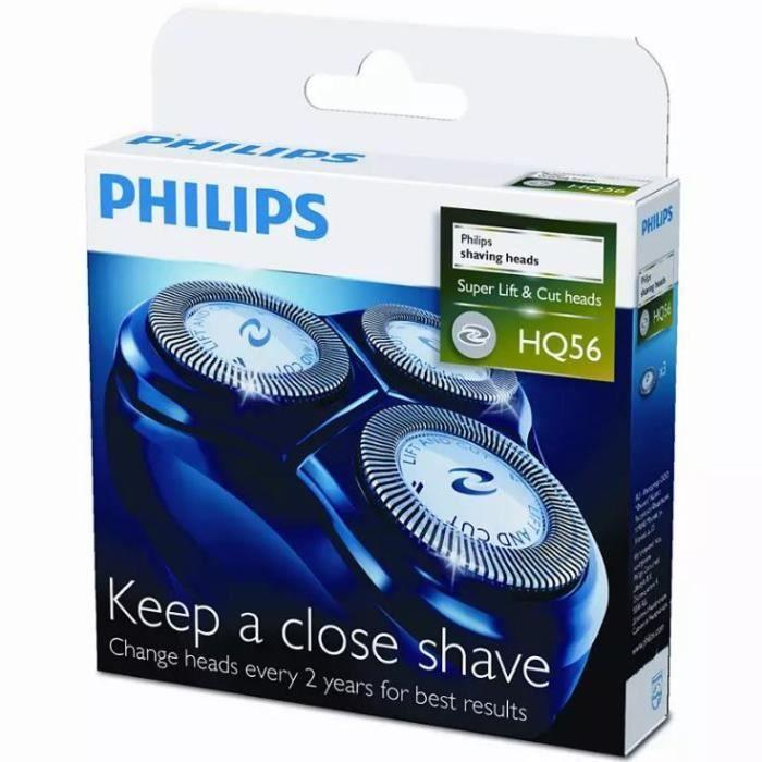 Tête de rasoir - PHILIPS HQ56 50 3 têtes de rasage - Super Reflex ... fc3d60eb9fde