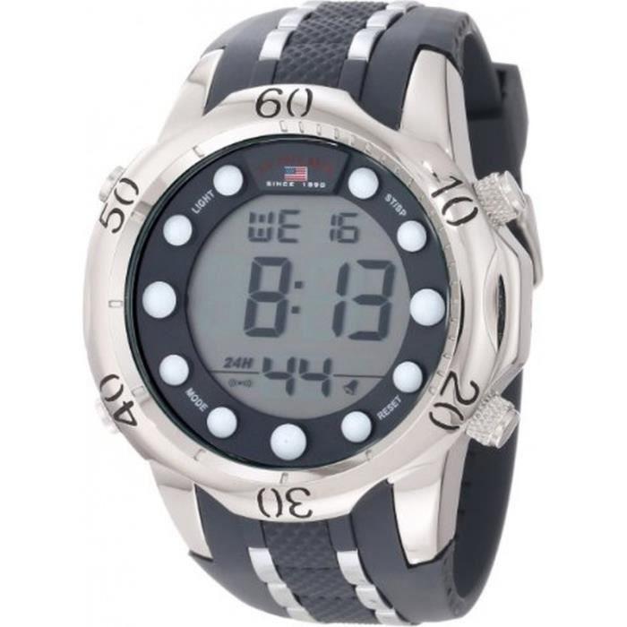 AssnSport Homme sPolo Bracelet U Digitale Silicone Montre Us9300 kuPXiZ