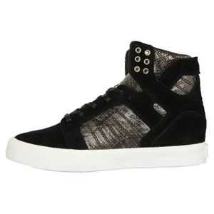 Supra Femmes Sneakers SKYTOP WEDGE Black-White SW08000, Taille:40