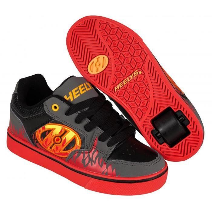 Heelys - Chaussures à roulettes Motion Plus - gris/noir/flammes