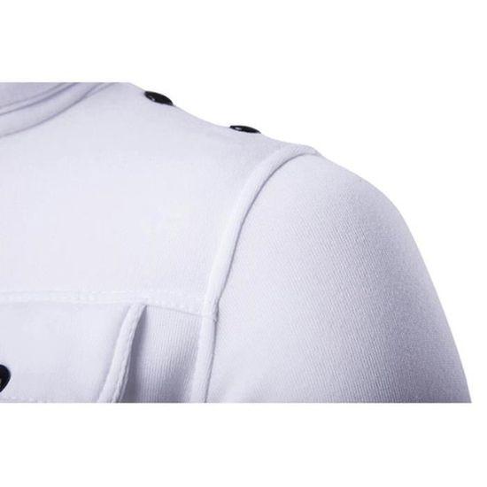 Unie Couleur Vertical Zipper Marque Slim Collet Homme Pour Gris Blouson Luxe Fit Clair Foncé 8wASI