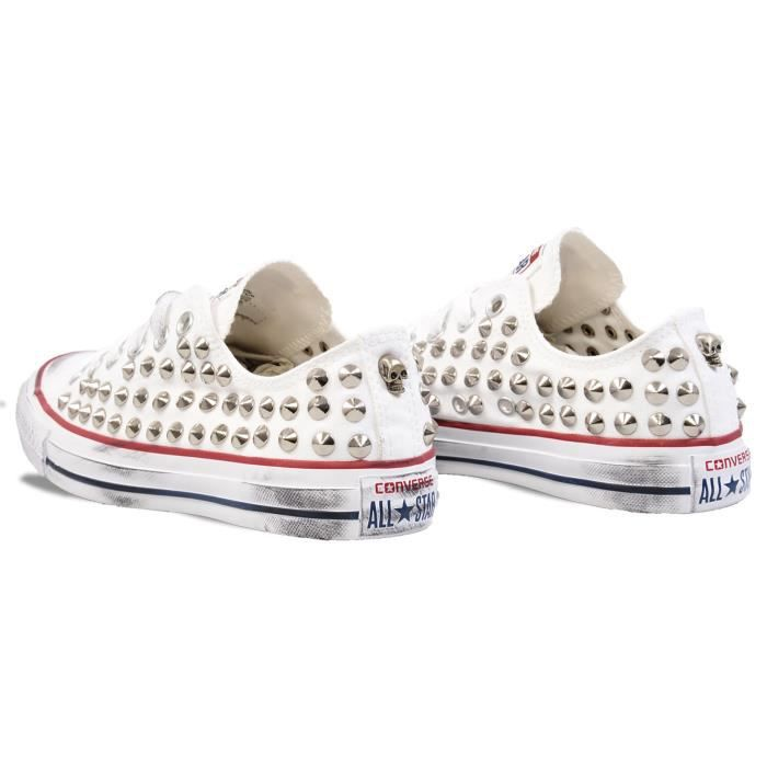 CONVERSE FEMME L05FUNO0100 BLANC COTON BASKETS
