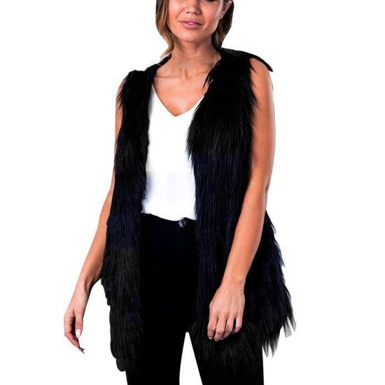 Hiver De Long Gilet Chaud Femmes Veste Taille Noir Spentoper Outwear Manteau P57qn