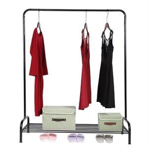 PENDERIE MOBILE VAGUE Porte-vêtements en métal avec rail de mainti