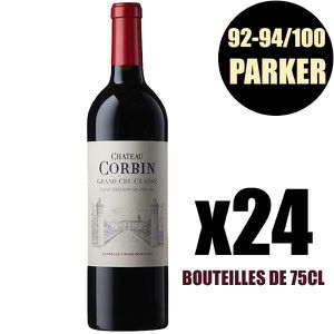 VIN ROUGE X24 Château Corbin 2016 75 cl AOC Saint-Émilion Gr