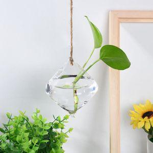 VASE - SOLIFLORE Boule en verre suspendu Vase plante en pot de fleu