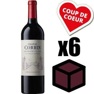 VIN ROUGE X6 Château Corbin 2014 Rouge 75 cl AOC Saint-Émili