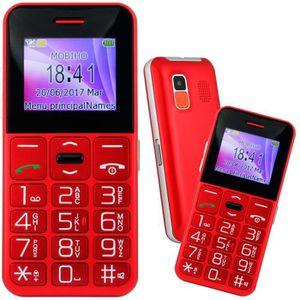 Téléphone portable Le CLASSIC SYMPA 2 ROUGE, téléphone personne agée.
