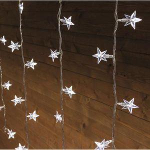 GUIRLANDE D'EXTÉRIEUR LOTTI Stalactite - 94 étoiles et LED - Blanc froid