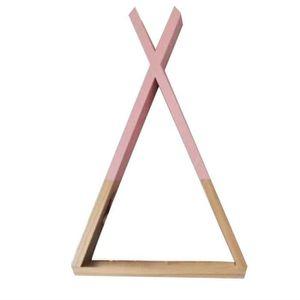 ETAGÈRE MURALE Pink39*23*10cm Bois X Forme Mur étagè