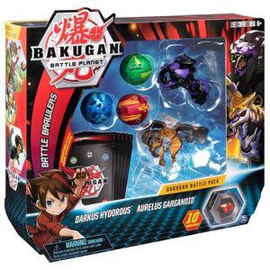 FIGURINE - PERSONNAGE BAKUGAN Battle Pack - Darkus Hydorous/Aurelus Garg
