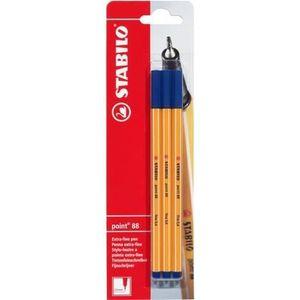 Stylo - Parure STABILO point 8 - lot de 3 stylos-feutres - bleu