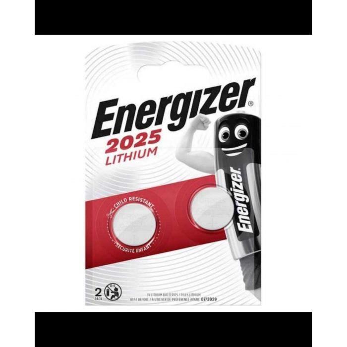 ENERGIZER 2 piles Lithium CR2025