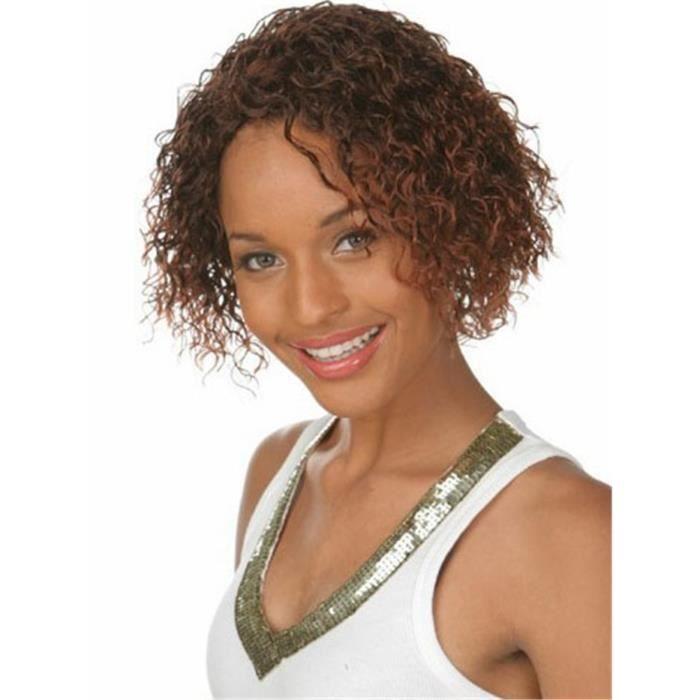Coloration auburn cheveux boucles
