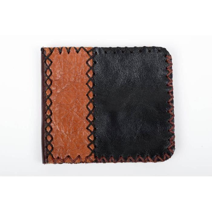 8cfa496bbc6 Portefeuille homme fait main Maroquinerie homme Cadeau original cuir naturel