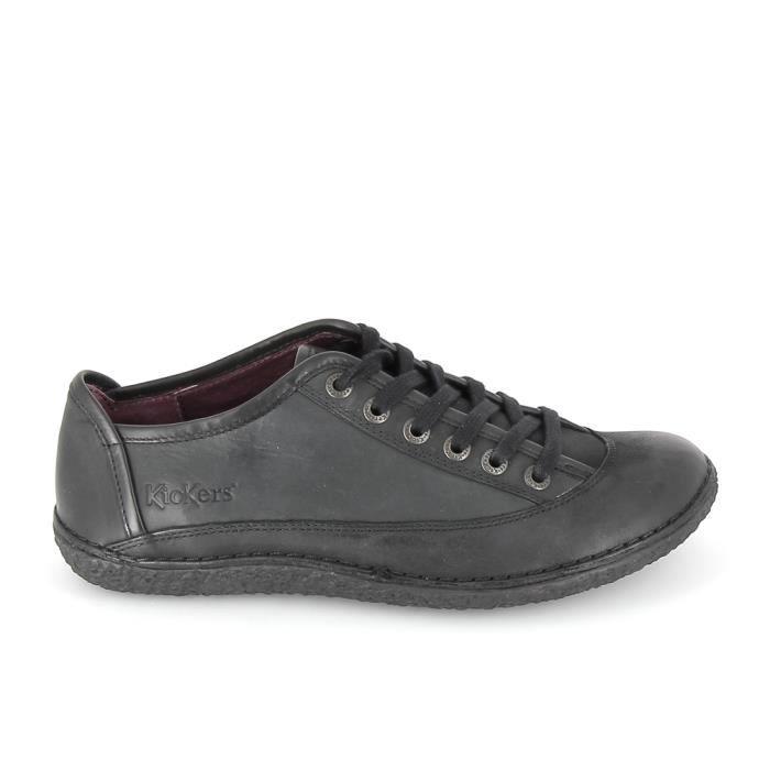 10cc96bad19 Chaussure de ville KICKERS Hollyday Noir Noir Noir - Achat   Vente ...