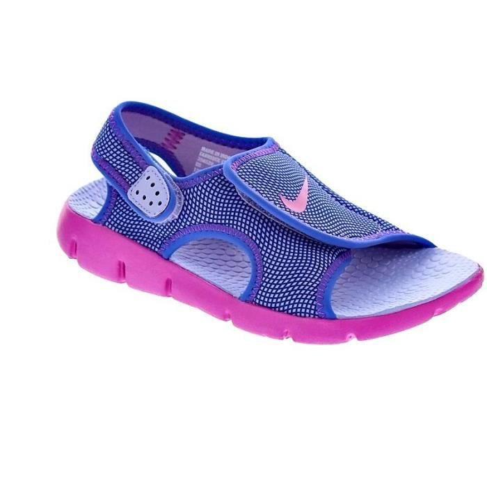 899a427748 Chaussures Nike Fille Sandales modèle Sunray Adjust 4 Violet Violet ...